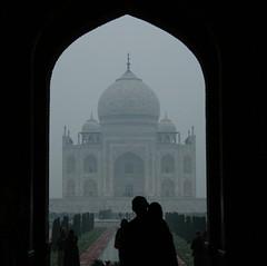 Taj Mahal from entrance