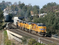 MRVRO at Newcastle (Patrick Dirden) Tags: railroad up train newcastle diesel rail unionpacific locomotive ge placercounty freighttrain unionpacificrailroad newcastleca c45accte uprosevillesub es45ac up5248