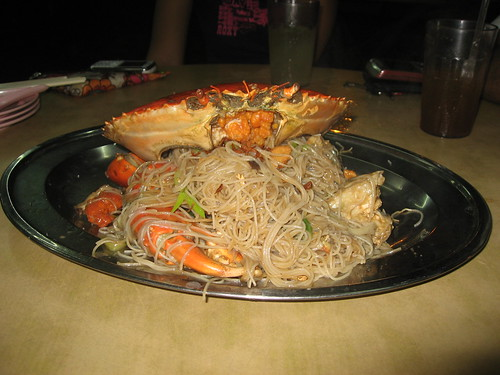 Fresh crab and noodles