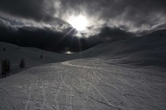 Cloud valley (Ben Hodson) Tags: world winter light cloud snow ski france mountains cold ice clouds dark landscape snowboarding eyes ray break skiing ben freezing freeze lonely through icy breakthrough isolated monty icey rayoflight genevre montgenevre hodson theworldthroughmyeyes benhodson wwwbenhodsoncouk
