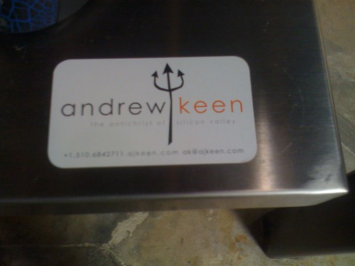 andrew keen's business card