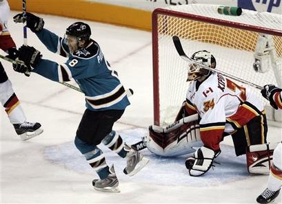 Flames Sharks Hockey