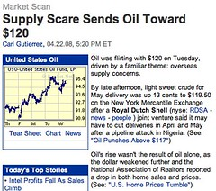Supply Scare Sends Oil Toward $120 - Forbes.com