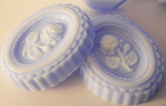 Victorian rose cameo soap (Soapy Blessings) Tags: blue rose soap cameo