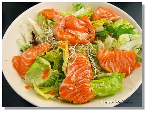 梭子 鮮鮭魚羅蔓生菜沙拉
