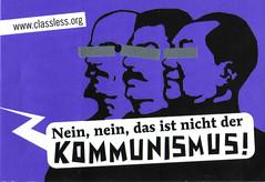 Nein nein, das ist nicht der Kommunismus! (Aufkleber lila)