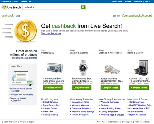 Live Search cashback 1