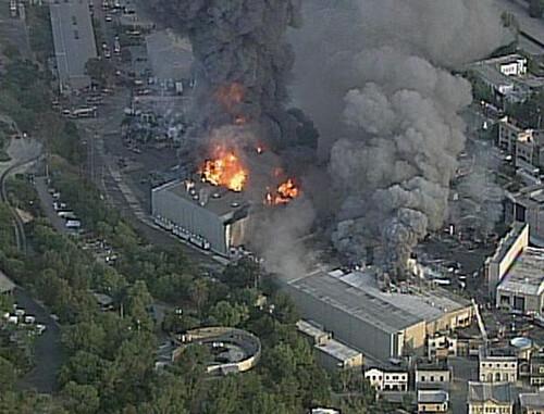 Universal Studios en incendio