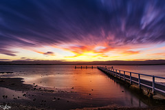 Sunset Stacker (e0nn) Tags: steveselbyphotography steev steveselby pentax pentaxk3 1017mm da1017 sunset lakeillawarra lake water wollongong shellharbour lightroom nikfilters