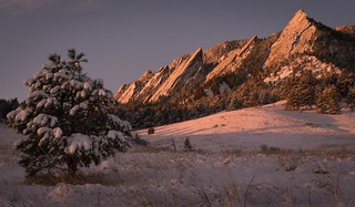 Sunrise over the Flatirons - Boulder, Colorado