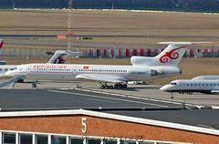 Tupolev Tu-154M EX-00001 Kyrgyzstan Airlines (EI-DTG) Tags: planespotting aircraftspotting governmentjets brussels bru brusselsairport 16feb2017 trijet ex00001 tupolev154 tu154 kyrgyzstanairlines kyrgyzstan