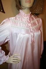 Pink Satin Nightgown Close Up Front 2 (mondas66) Tags: ruffles lingerie boudoir satin nightgown frilly nightgowns nightdress ruffle nightwear frills frill ruffled nightie frilled nighties nightdresses frilling frillings