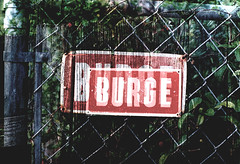burge (mr.fink) Tags: red signs film de doubleexposure fences double 200iso 35mmfilm exposrue