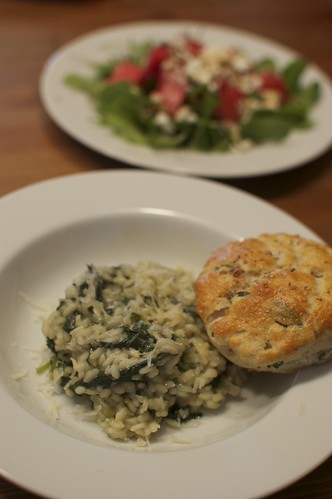 Nettle Risotto & Ramp Biscuit