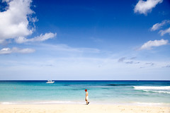You are not alone (angietorres) Tags: travel vacation holiday tourism beach water island paradise tourist barbados caribbean splash