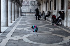 Playing at the Doge's Palace (autodistruzione) Tags: venice people playing kid child palace tenderness doges stmark