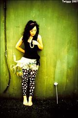 (Twiggy Tu) Tags: portrait wall whiteflower lomo lca wind exhibition fiona taipei rocknroll moment flappergirl p1f1 aplusphoto shesmybestmodel lovelyskirt 搖擺女郎攝影聯展