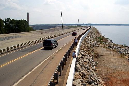 Lake Murray Dam under reconstruction - Sept. 2005