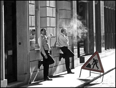 Men at work (ro_nya) Tags: men london work cool lunchtime smoking explore theratrace fagbreak ronya ronyagalka fiveflickrfavs ronyagalkacom