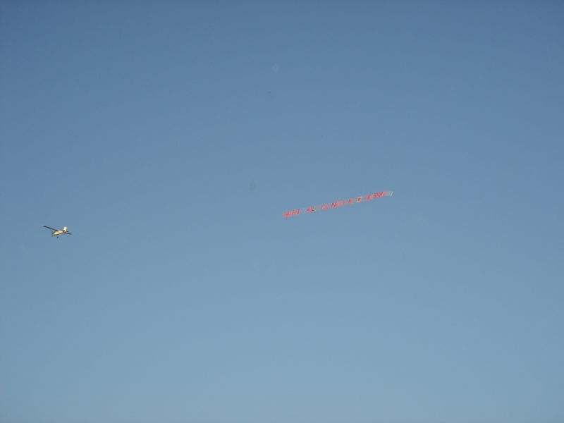 Marriage Proposal fly-by