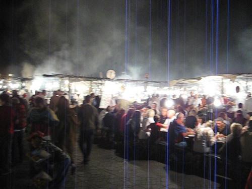 el humo de la plaza Jemaa El Fna