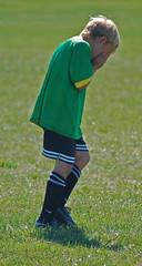 Sad goalie