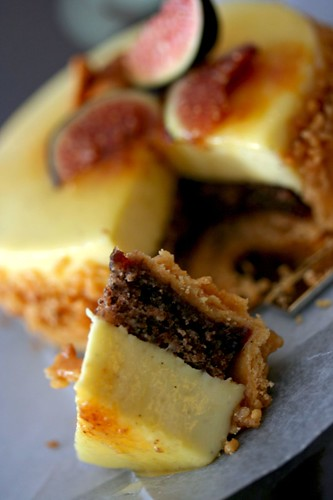 Wedge of the fig tart