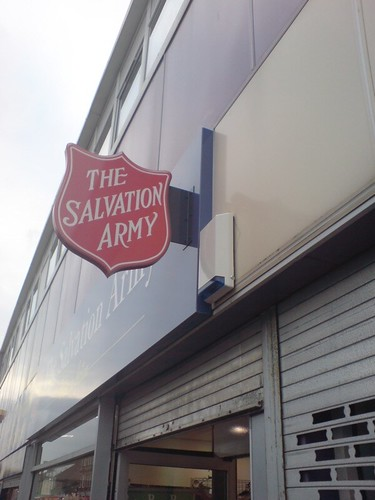 The Salvation Army charity shop in Bellshill,