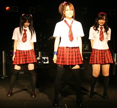 girl J-pop trio are ready (shiroibasketshoes hopper) Tags: costumes girls japan asian fun song group funky pop clothes idol singers groovy skirts