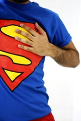 I can be your superman (Bahraini Wa$eeM ) Tags: blue red love yellow hand you tshirt s superman tricolorvenezolano