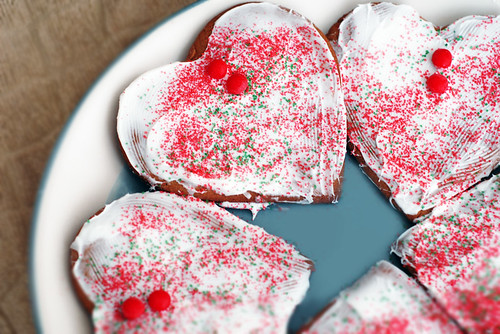Frosted Gingerbread Hearts