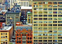 SimCity (IlanBresler) Tags: city windows roof red urban ny newyork abstract color building texture window colors yellow architecture buildings d50 layout big nikon colorful cityscape view rooftops 2006 roofs formation urbannature blocks ilan minimalism arrangement crowded barnesandnoble simcity bresler rooftoop cityjungle buildingstructures crowdedcity onephotoweeklycontest