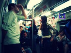 the truth is blur and blue (Danilo Prates) Tags: light sleeping people home train work subway faces sãopaulo bodylanguage tired dreams publictransport fatigue humanbeing lots standup metrô aperto tumult tumulto latadesardinha