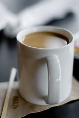 Smooth Blend (benrobertsabq) Tags: china food brown white cup coffee ceramic 50mm java bokeh joe delicious mug brew porcelain grovecafe