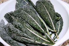 spotty kale in bowl