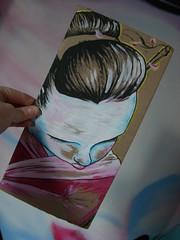 free art (little-lil) Tags: japan cardboard geisha lil freeart faf freeartfriday itsyourstakeit