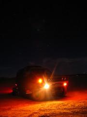 79 4x4 (kneesamo) Tags: longexposure night speed long exposure slow shot conversion 4x4 pickup shutter nightshots 1979 atnight datsun slowshutterspeed inthedark bulletside pl620