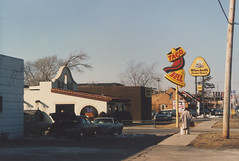 An original 1st Generation Taco Bell restaurant. Alsip  Illinois  USA. Febuary  1986.