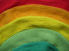 I knitted a Rainbow