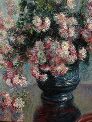 Monet, Chrysanthemums (detail) (Sharon Mollerus) Tags: newyork painting daniel fineart monet impressionism claude catalogue metropolitanmuseumofart wildenstein raisonn qd11 qd12 20080121monetchrysanthemums qd13 w634