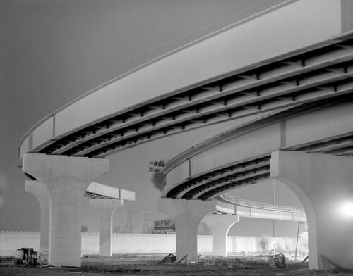 nighttime overpass on Flickr