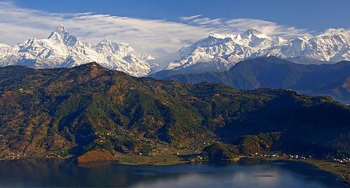 The Anapurna range (Pokhara, Nepal)