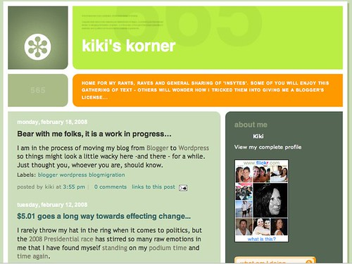 Kiki's Korner: Before