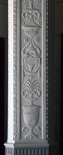 Ornamented column, in the Lammert Building, in Saint Louis, Missouri, USA