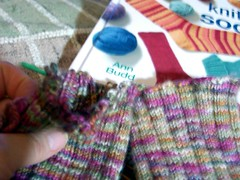 doing the fix to the cuffs to get more yarn