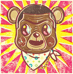 Kanye West Bear (alexeizm{alexei vella}) Tags: west illustration personal silkscreen alexei kanye