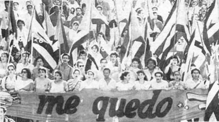 Mitin en Cuba 1993