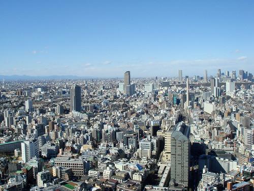 Tokyo seen from Ebisu Sky Tower