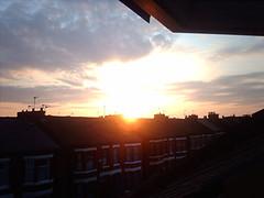 sunset (Mandy73 - The Photographer Blog) Tags: sunset project365 loftwindow sunsetoverroofs