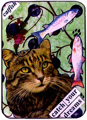 Catch Your Dreams - Cat collage ACEO (Jane (on break)) Tags: flowers fish green rose collage cat handmade c tabby victorian kitty polkadots aceo catfish swirls etsy 2008 pawprints cutecat alteredart efa tabbycat catart catlovers victorianinspired handmadecollage cisforcat catchyourdreams catcrafts etsyforanimals catcollage alteredcollage janediamonddesigns victoriancat alteredcatart veganetsy cataceo handmadeaceocollage aceojanediamond alteredaceo catcollageart